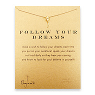 follow your dreams kite necklace, gold dipped
