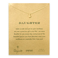 daughter sideways heart necklace, gold dipped