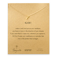 go! arrow necklace, gold dipped