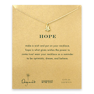 hope dove necklace, gold dipped