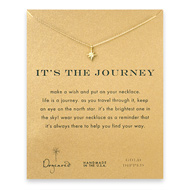it's the journey north star necklace, gold dipped