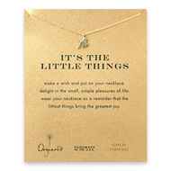 it's the little things sparrow necklace, gold dipped