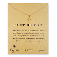 just be you coral branch necklace, gold dipped