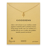 goddess ankh necklace, gold dipped