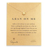 lean on me tree necklace, gold dipped