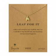 leap for it frog necklace, gold dipped