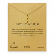 let it slide serpent necklace, gold dipped