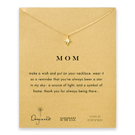 mom north star necklace, gold dipped