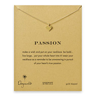 passion perfect heart necklace, gold dipped