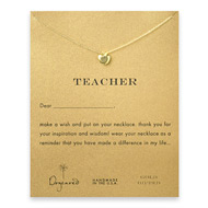 teacher apple necklace, gold dipped