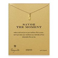 savor the moment reminder necklace with gold dipped chef's knife