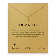 think big little acorn necklace, gold dipped