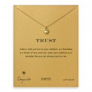 trust lock necklace, gold dipped