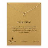 thanks! Wishbone necklace, gold dipped