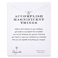 accomplish magnificent things bee necklace, sterling silver