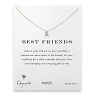 best friends teeny angel wings necklace, sterling silver
