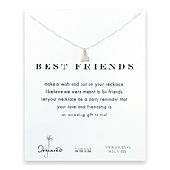 best friends loving heart necklace, sterling silver