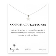 congratulations celestial star necklace, sterling silver