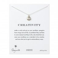 creativity penguin necklace, sterling silver