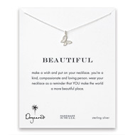 beautiful butterfly necklace, sterling silver