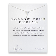 follow your dreams kite necklace, sterling silver
