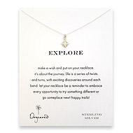explore compass necklace, sterling silver
