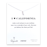 I love california necklace, sterling silver
