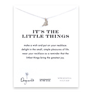 it's the little things sparrow necklace, sterling silver