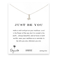 just be you coral branch necklace, sterling silver