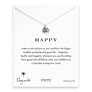 happy buddha necklace, sterling silver