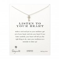 listen to your heart key necklace, sterling silver
