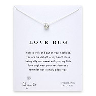 love bug ladybug necklace, sterling silver