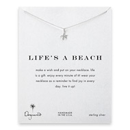 life's a beach starfish necklace, sterling silver