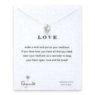 love reminder necklace with sterling silver mini stone heart