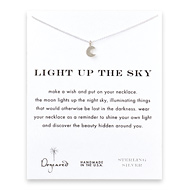 light up the sky moon glow necklace, sterling silver
