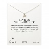 live in the moment sea turtle necklace,  sterling silver