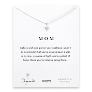 mom north star necklace, sterling silver
