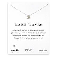 make waves smooth sailboat necklace, sterling silver