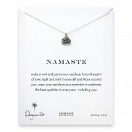 namaste buddha necklace, sterling silver