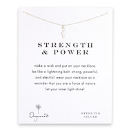strength and power lightning bolt necklace, sterling silver
