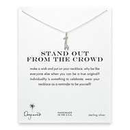 stand out from the crowd giraffe necklace, sterling silver