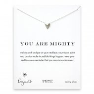 you are mighty pyramid necklace, sterling silver