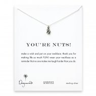 you're nuts! Squirrel necklace, sterling silver