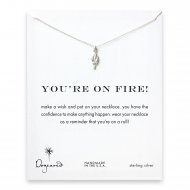 you're on fire! Torch necklace, sterling silver