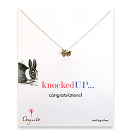knocked up reminder necklace with sterling silver rabbit