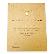 make a wish kind heart gold dipped reminder necklace