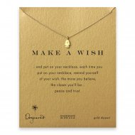 make a wish hamsa necklace, gold dipped