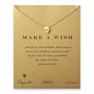 make a wish skull necklace, gold dipped