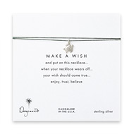 make a wish sea turtle necklace on evergreen, sterling silver