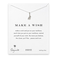 make a wish cheeky monkey sterling silver reminder necklace